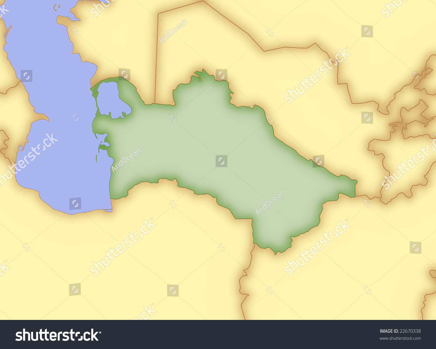 Map turkmenistan borders surrounding countries stock illustration map of turkmenistan with borders of surrounding countries sciox Image collections