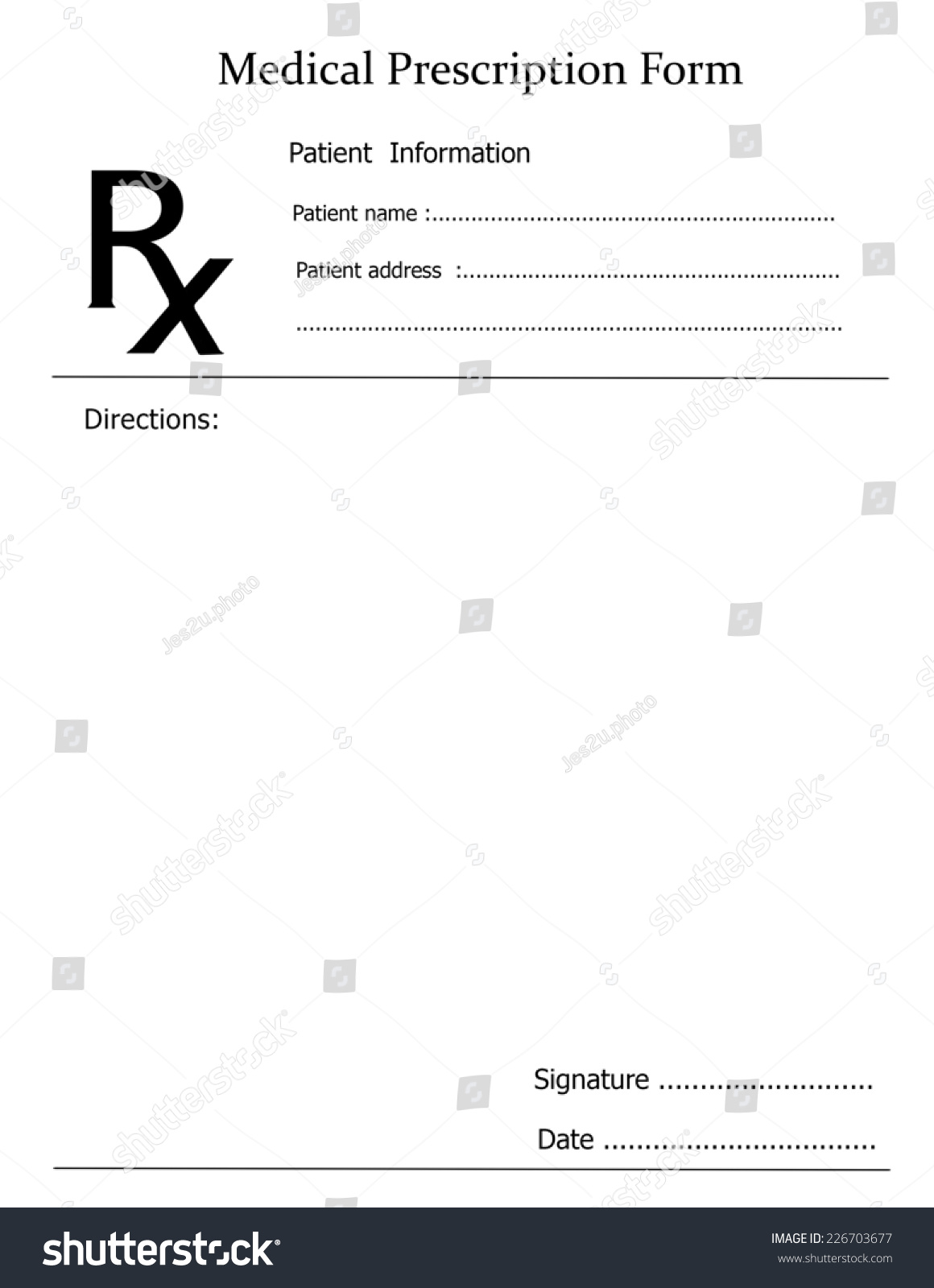 Prescription Note Representing Doctors Medicine Remedy Stock Photo ...