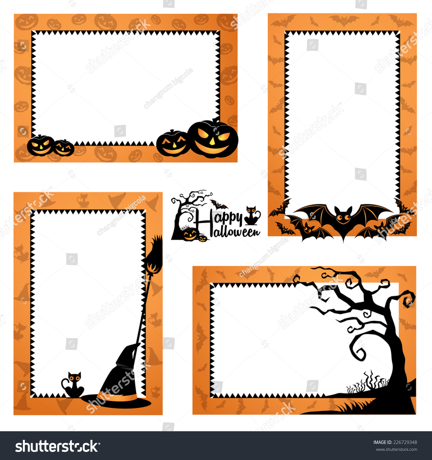Halloween Border Design Halloween Frames Design Stock ... | 1500 x 1600 jpeg 531kB