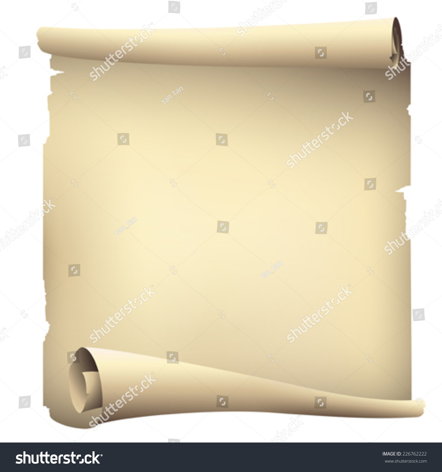 Old Paper Scroll Banner Vector Drawing Stock Vector (Royalty Free