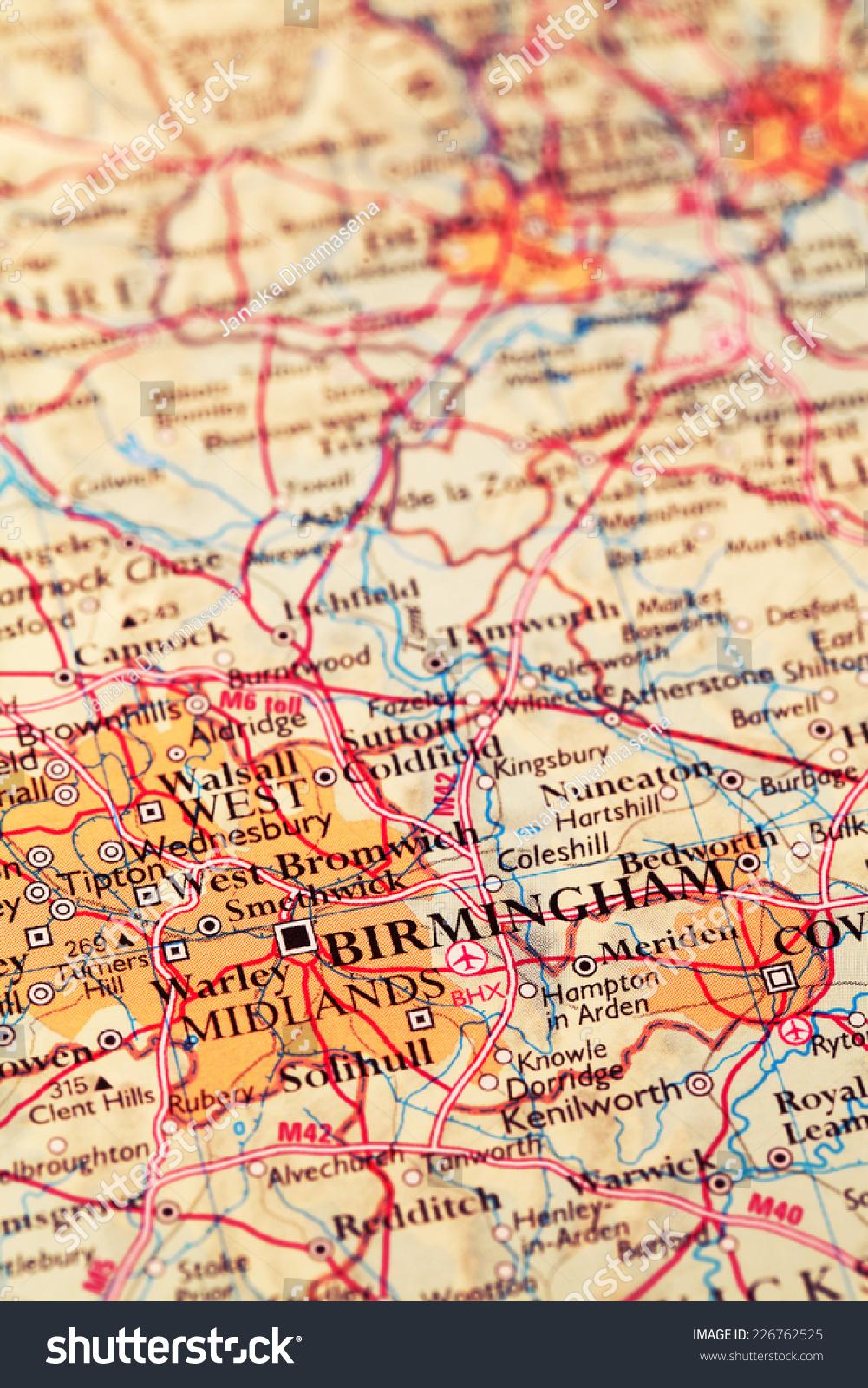 Birmingham City England On Atlas World Stock Photo Edit Now