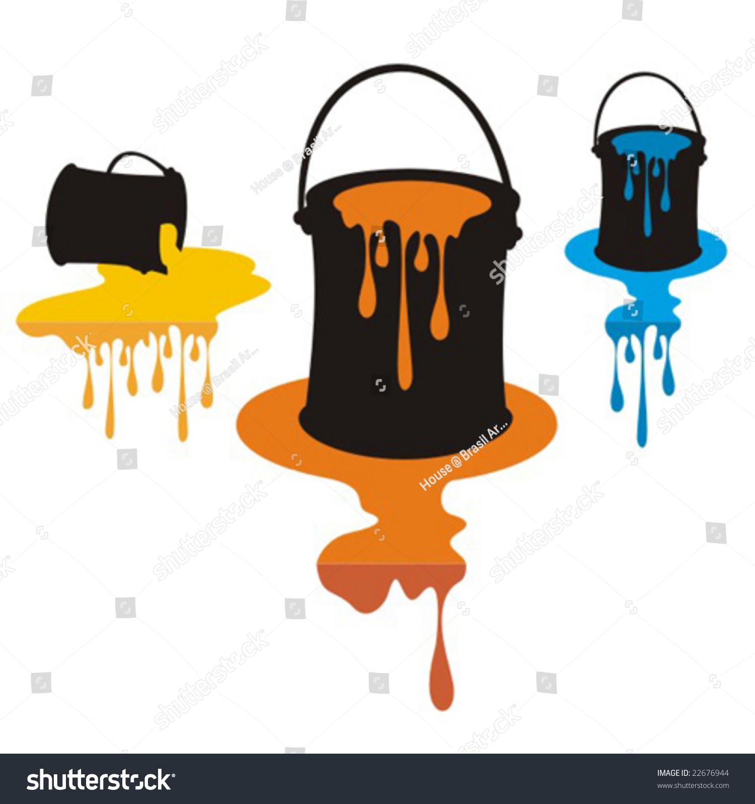 Open Paint Cans Vector