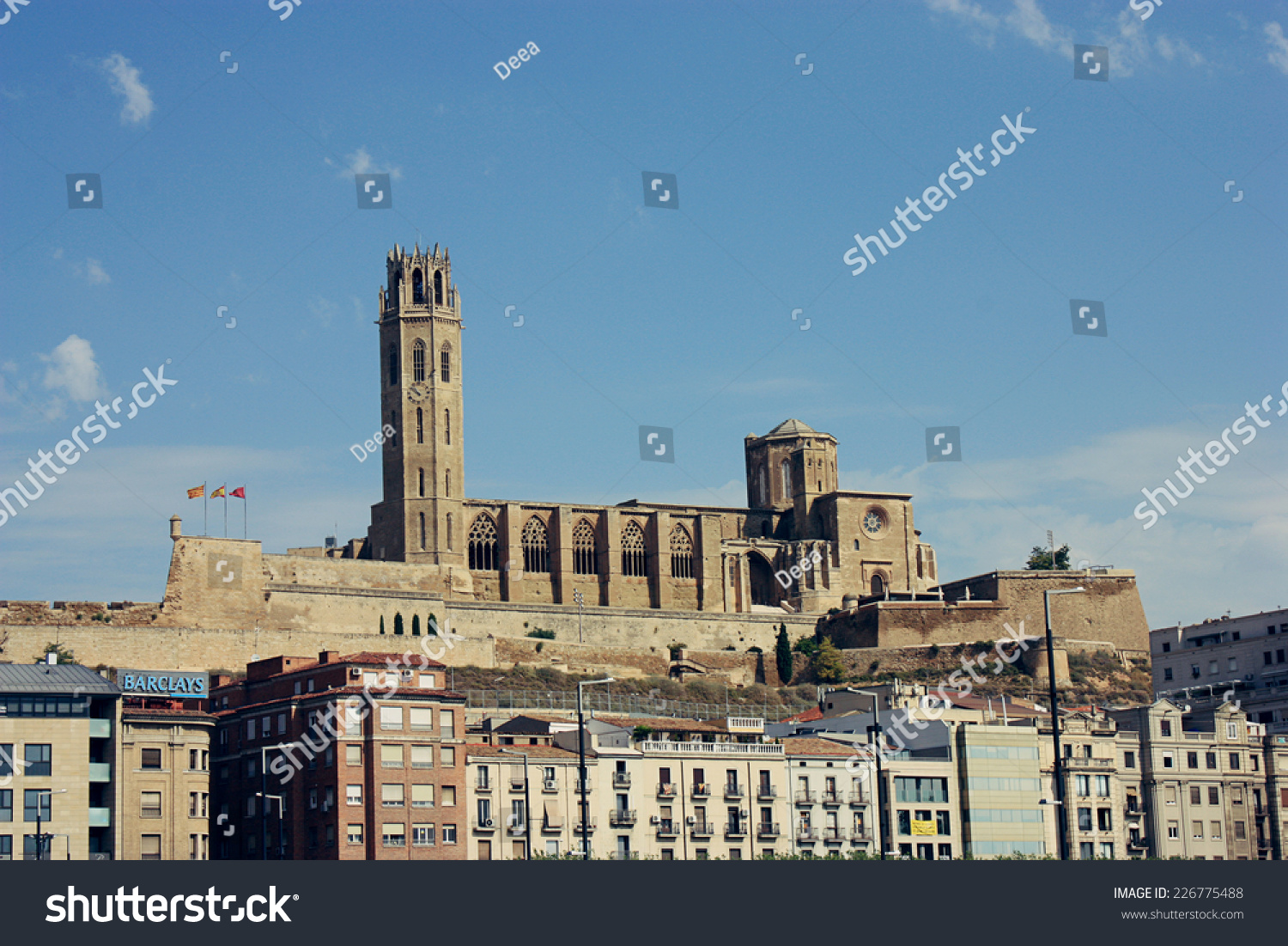 Lleida Spain  City pictures : LLEIDA, SPAIN AUGUST 2014: La Seu Vella Cathedral in Lleida, as seen ...