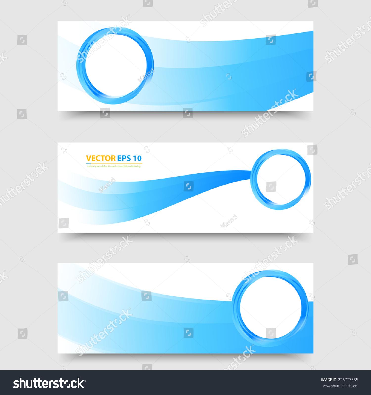 Flyer Template Header Design Banner Design Stock Vector 226777555 ...