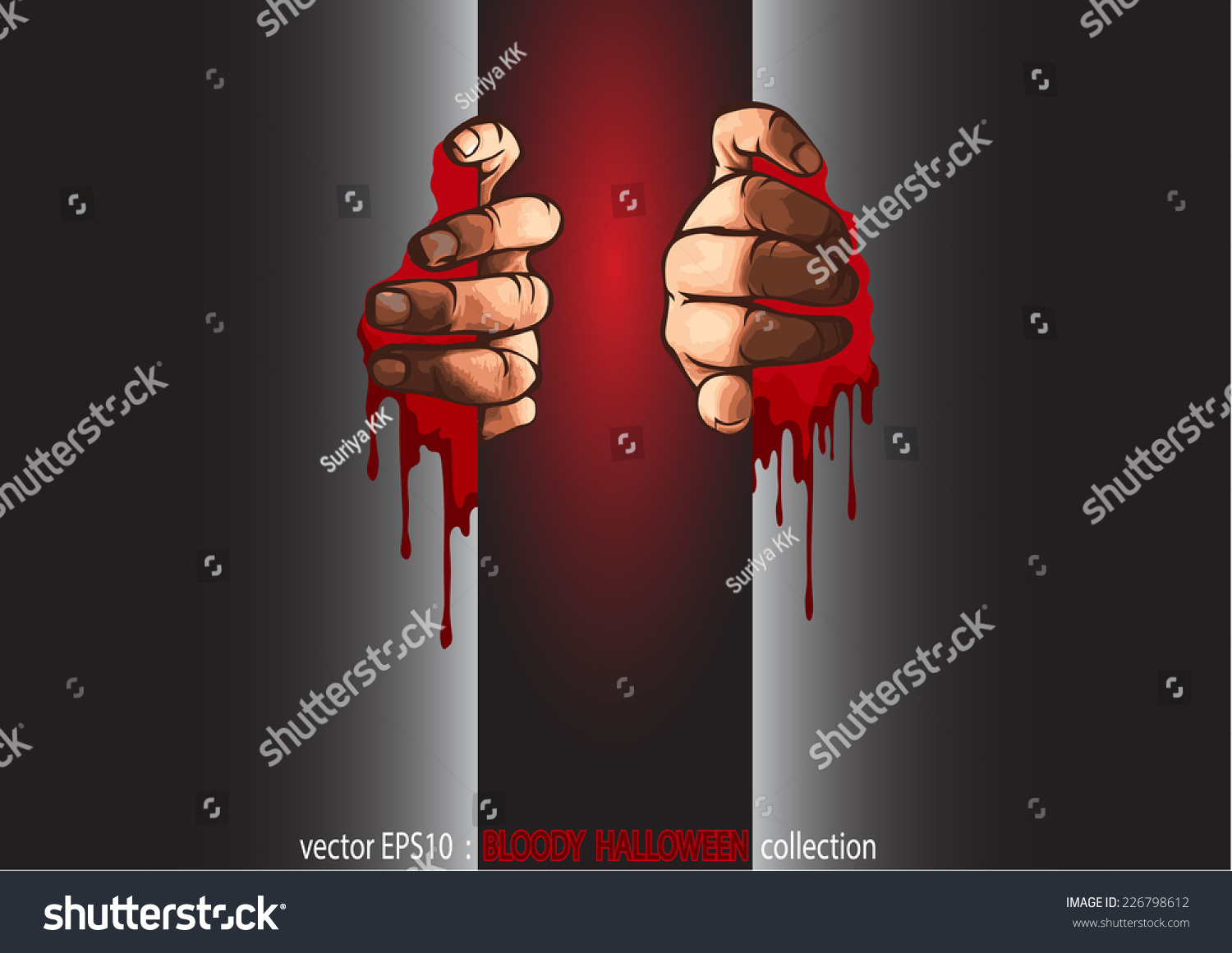 vector eps 10 halloween collection two hands stock vector (royalty