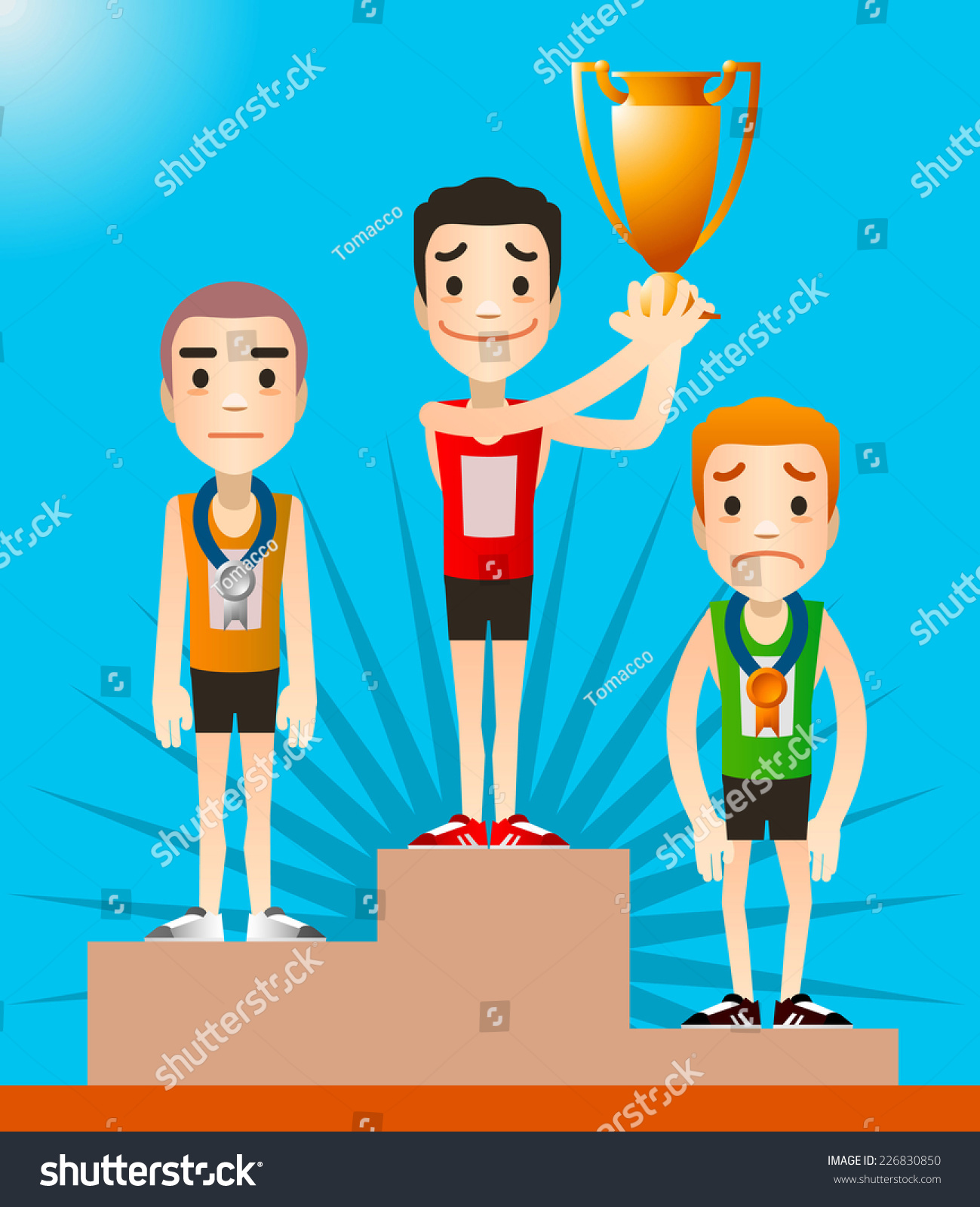 Runner Winning Race Clip Art