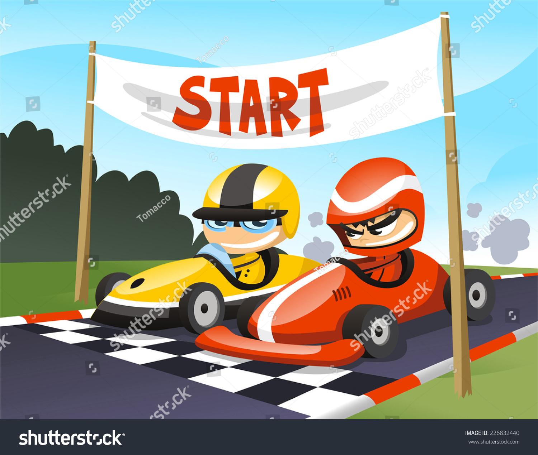 Car Race Cartoon