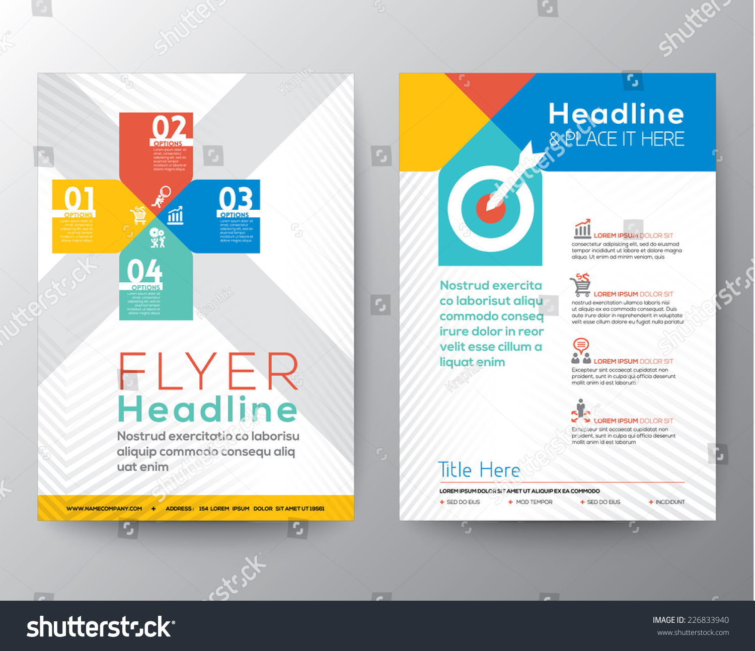 Brochure Flyer Graphic Design Layout Vector Stock Vector 226833940 ...