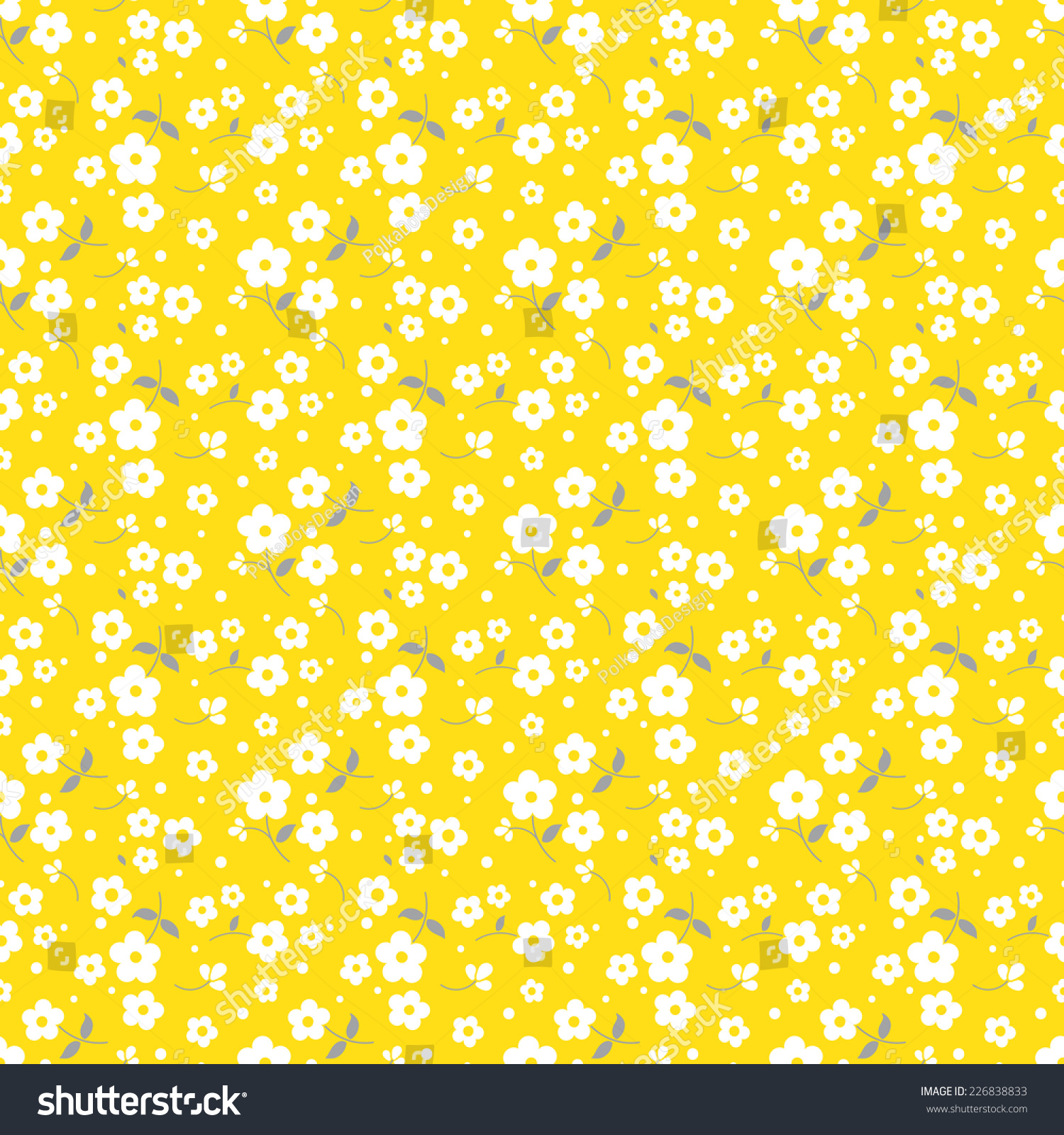 Seamless Floral Pattern White Flowers On Stock Vector Royalty