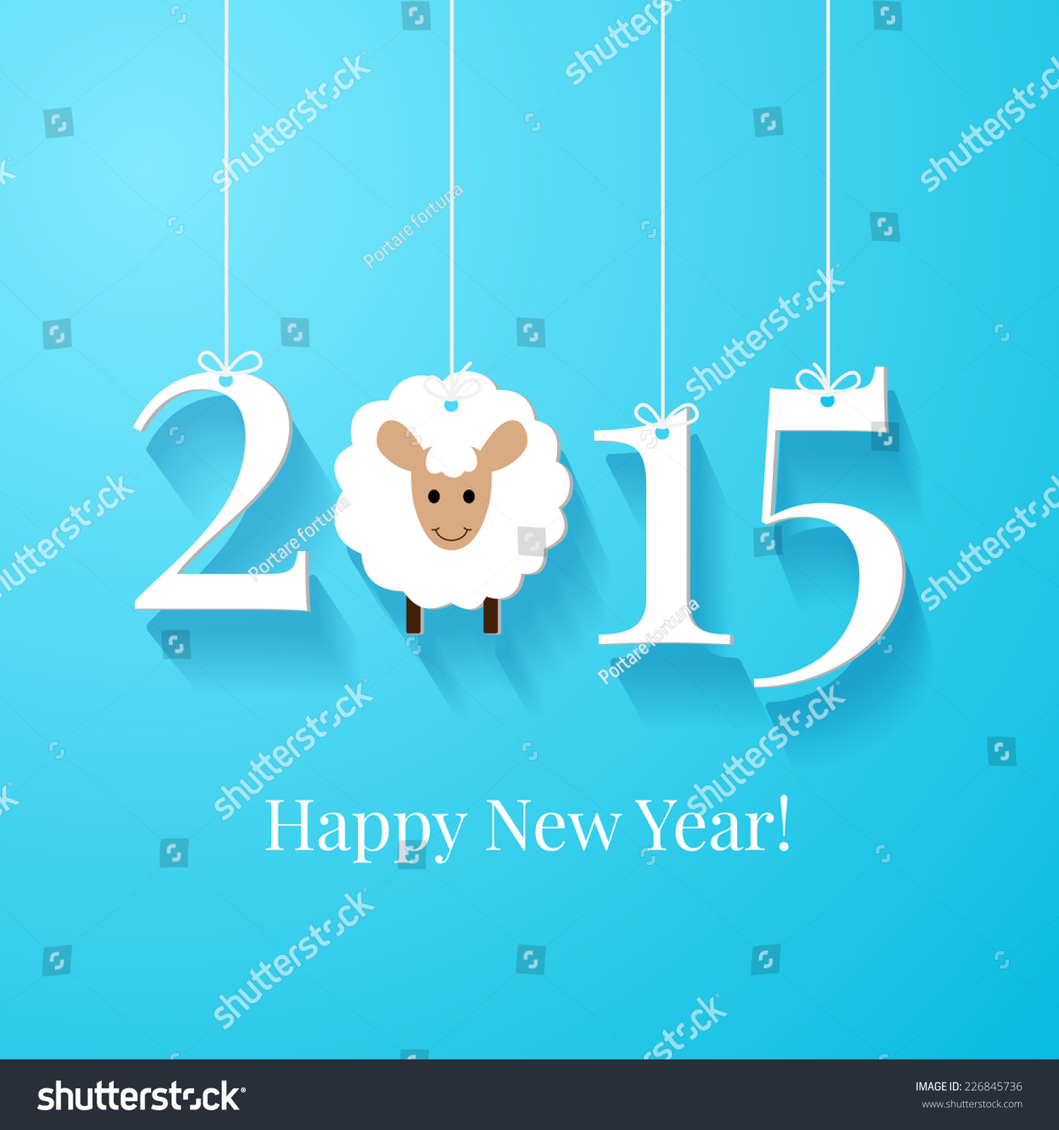 Happy New Year Greetings Card Background Stock Vector Royalty Free