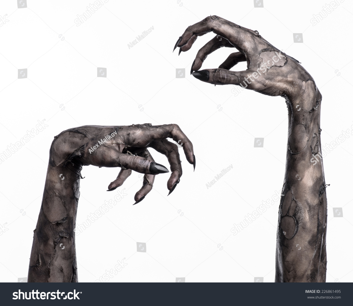 how to make a zombie hand