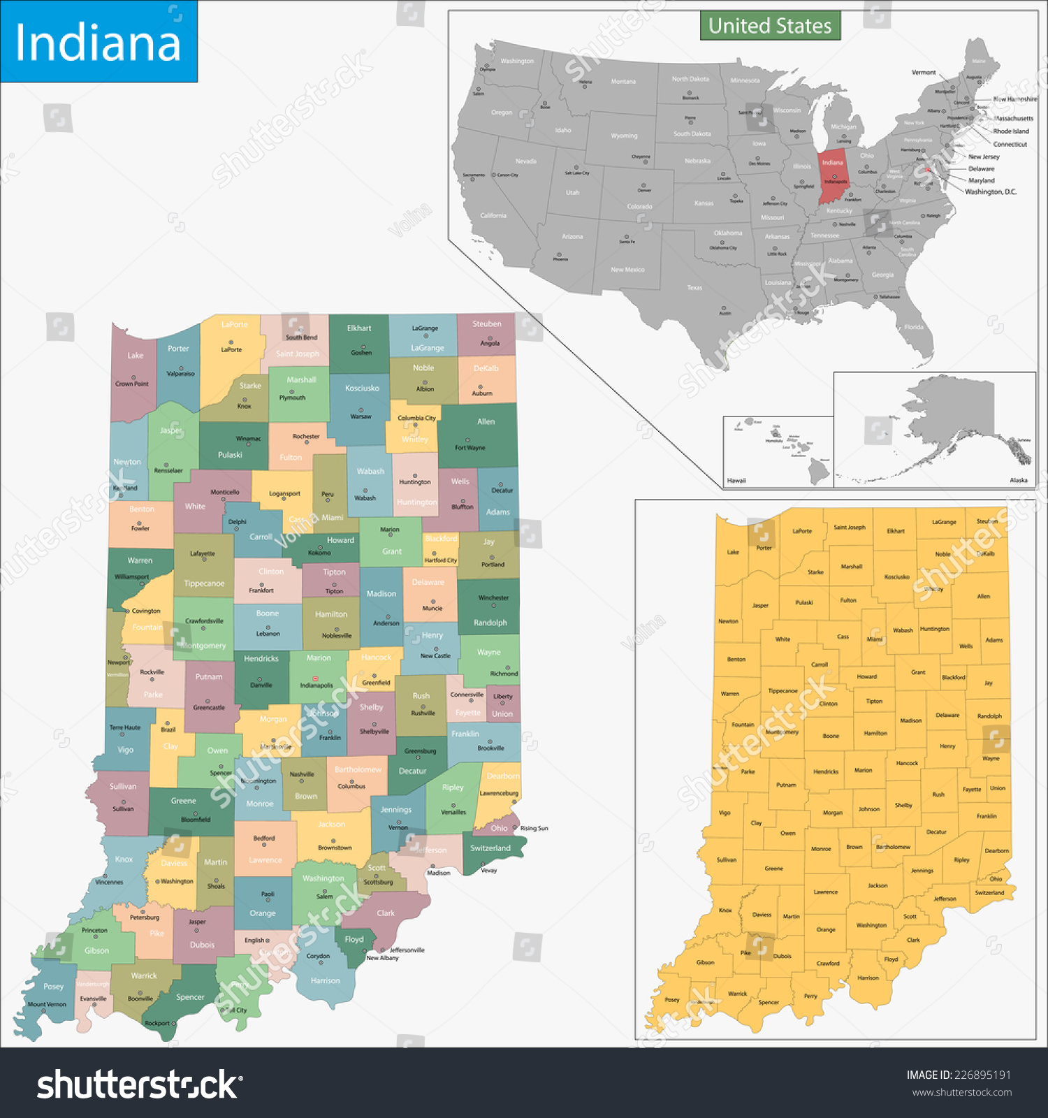 Map Of Indiana State And County Maps Of Indiana Reference Map Of - Indiana is in what time zone