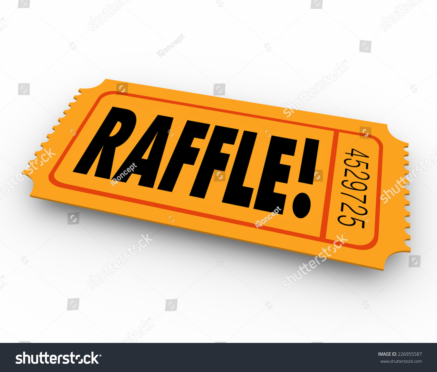 raffle word on orange ticket you stock illustration  raffle word on orange ticket for you to enter to win a drawing for a cash