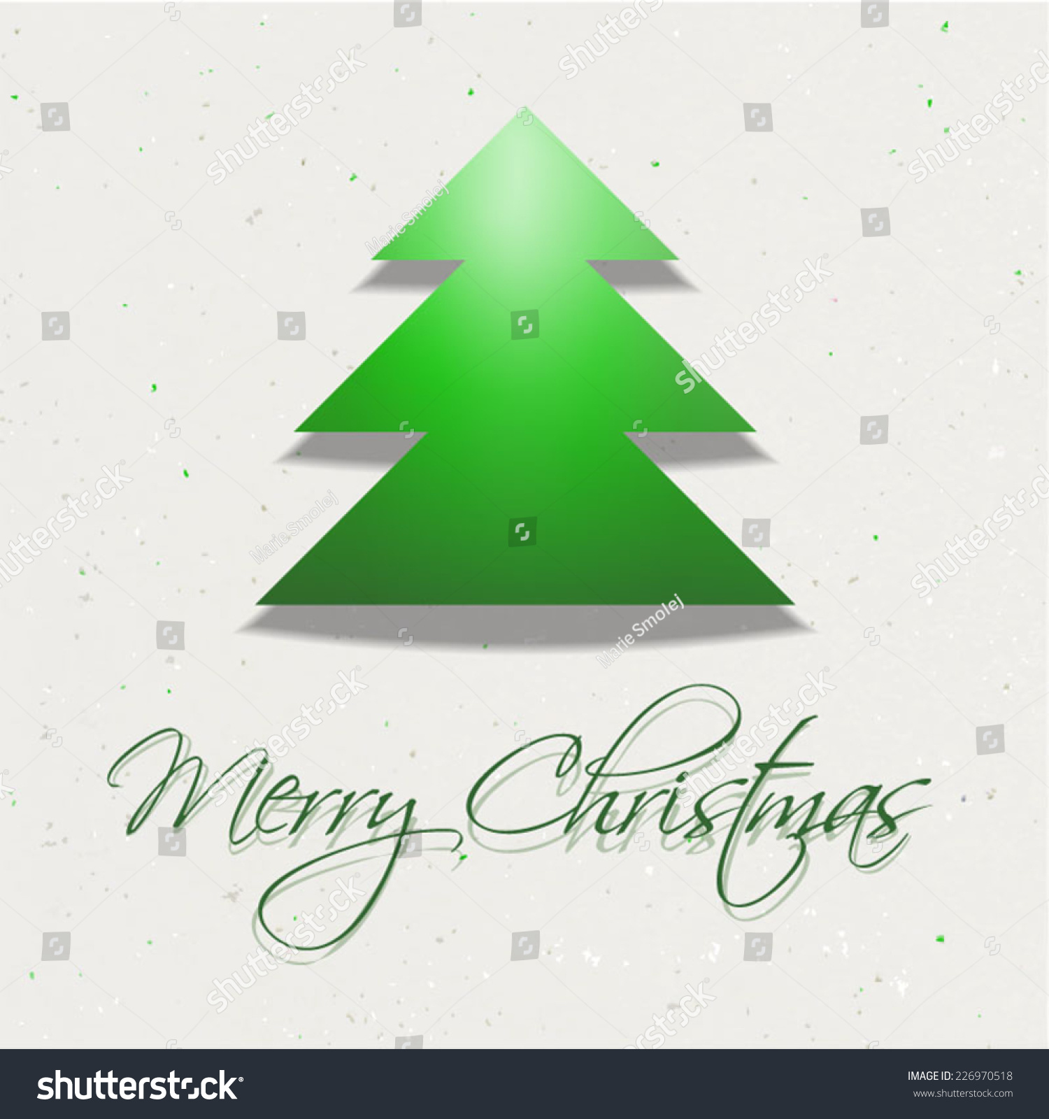 Vector modern christmas card tree merry stock vector royalty free vector modern christmas card with tree merry christmas wishes on recycled paper use for m4hsunfo