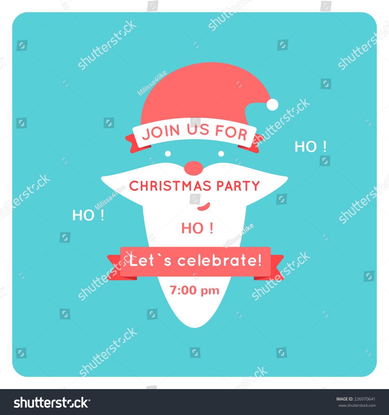 christmas invitation vector