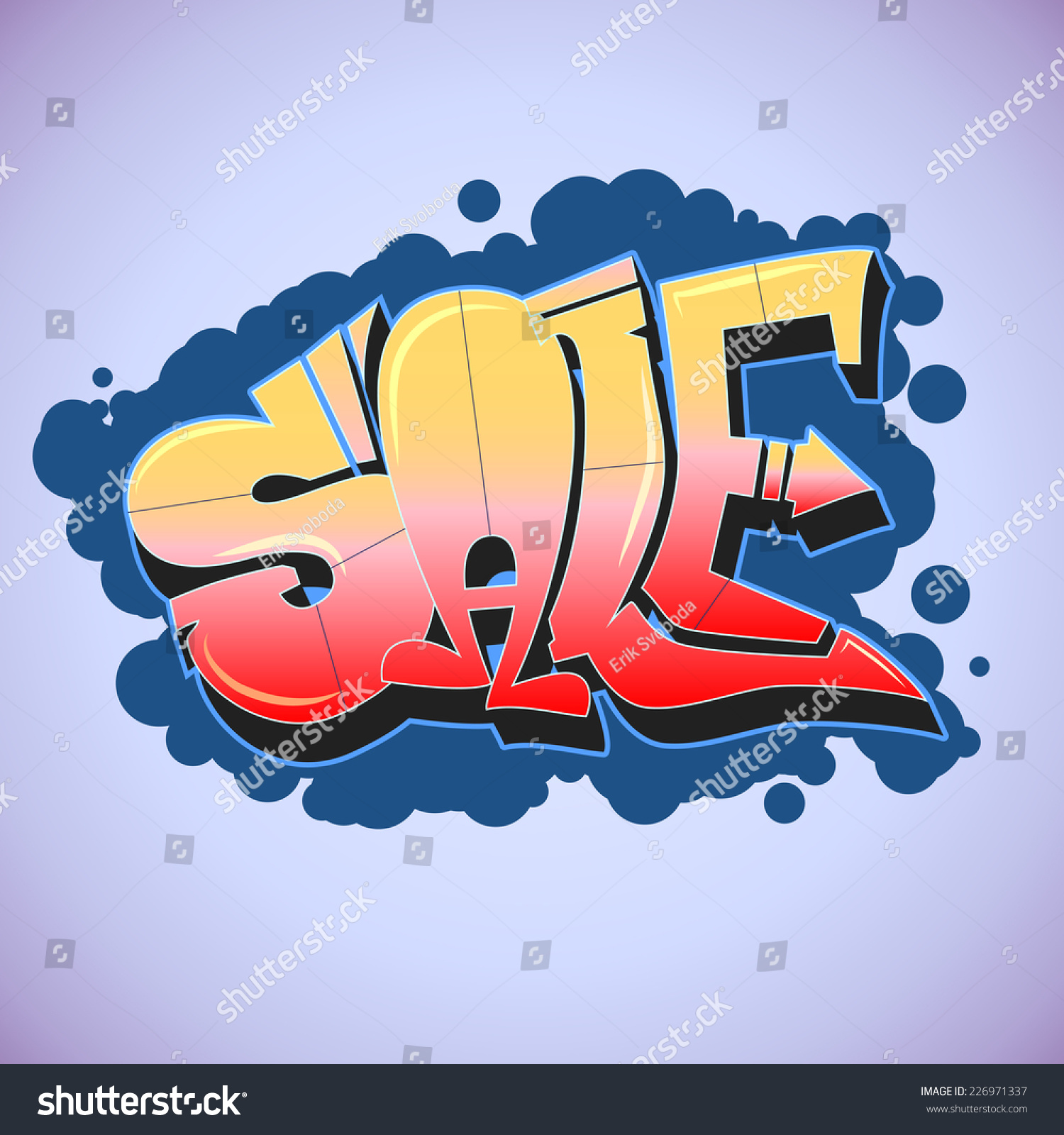 Sale graffiti style for your business urban art