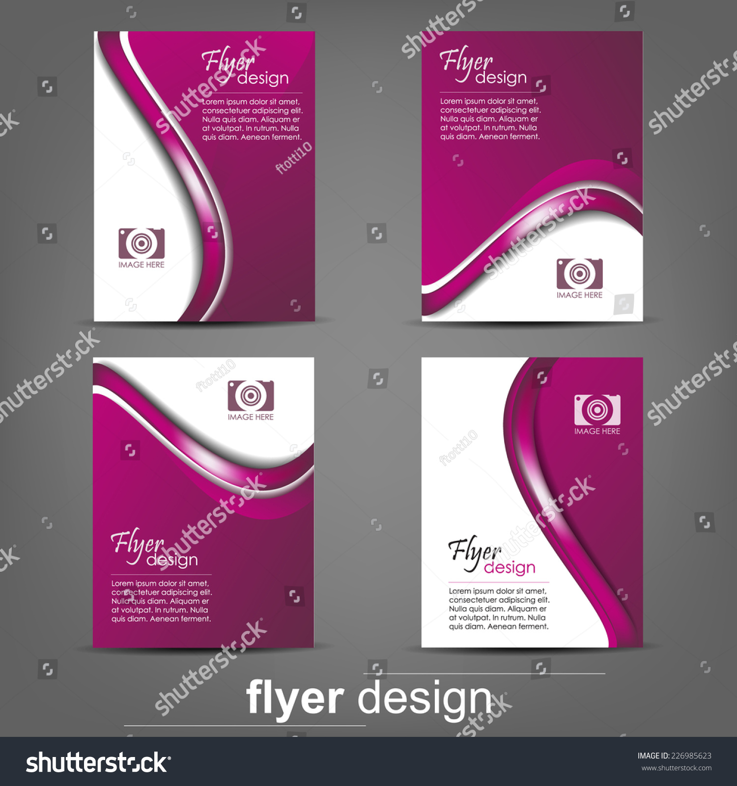 set of business flyer template for cover design document folder save to a lightbox