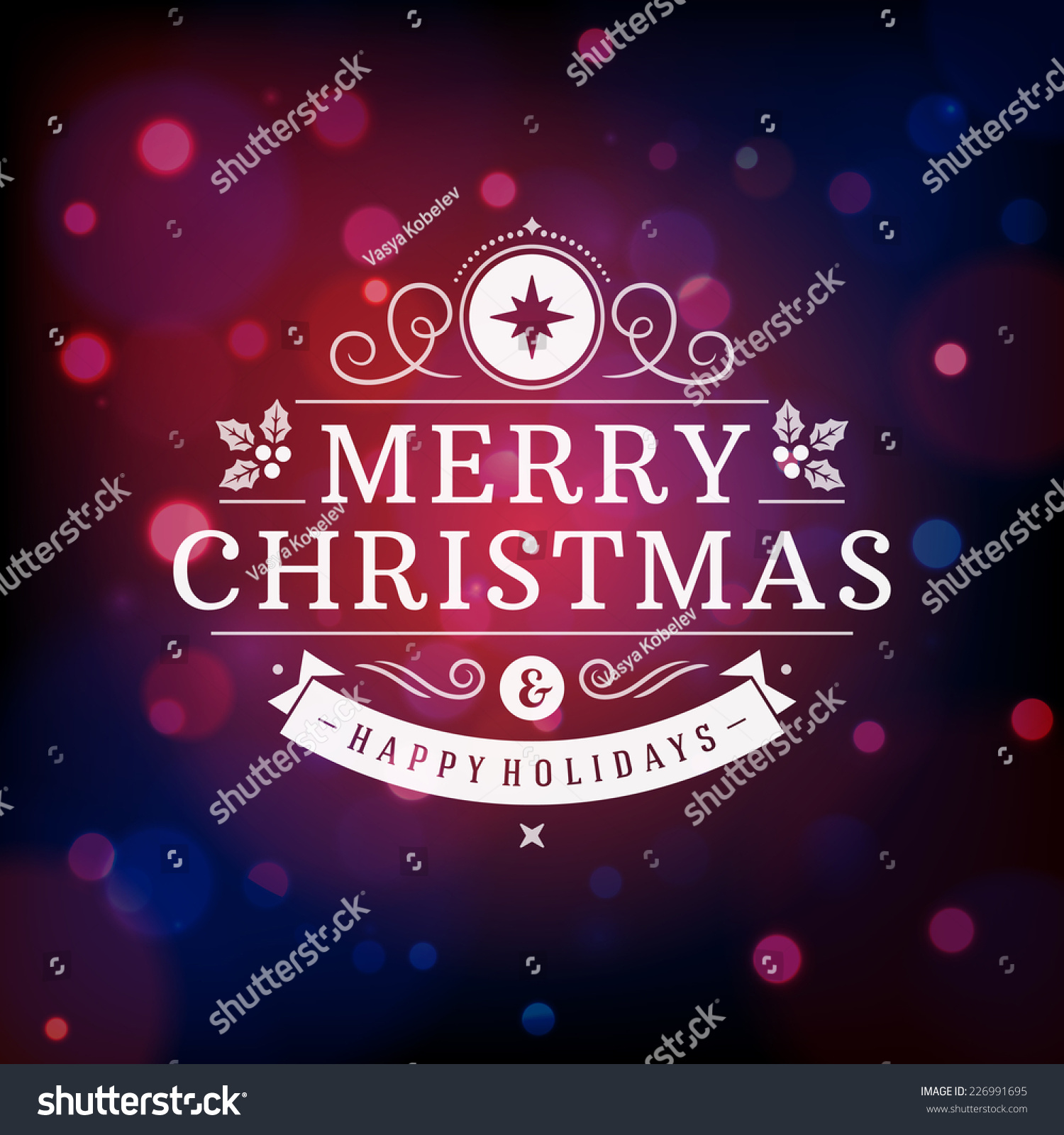 Christmas Greeting Card Light Vector Background Stock Vector