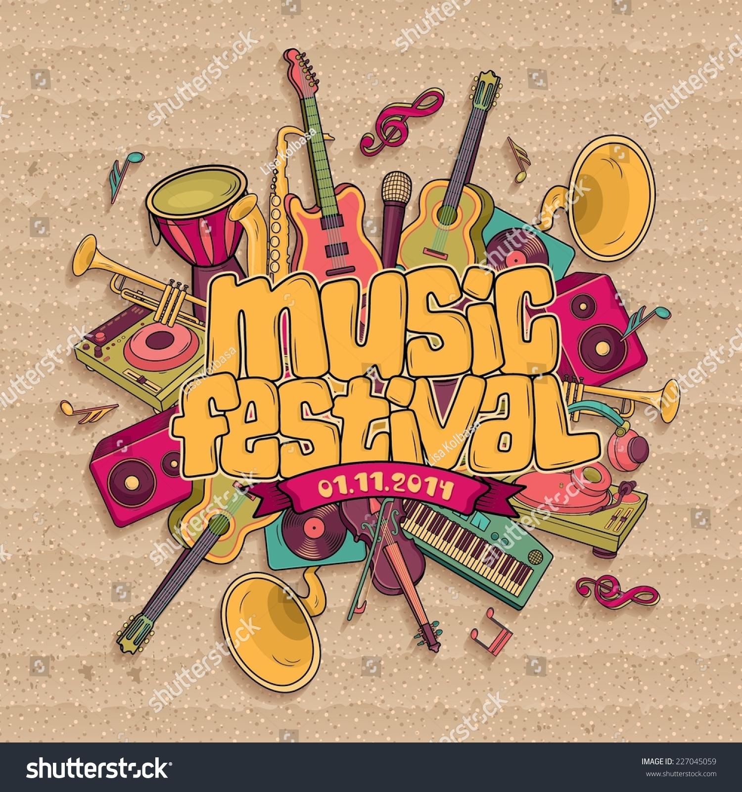 Music Festival Vector Music Background Stock Vector ...