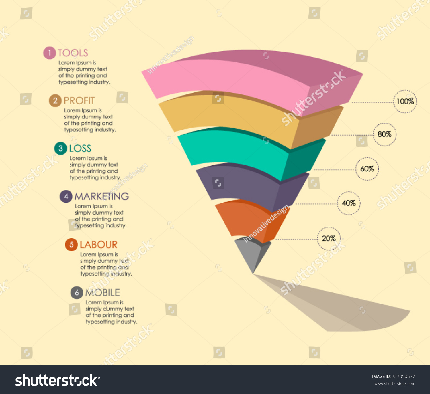 Pyramid Chart Vector You Use Your Stock Royalty Free Diagram Template For To In Business Proposal Or Presentation This