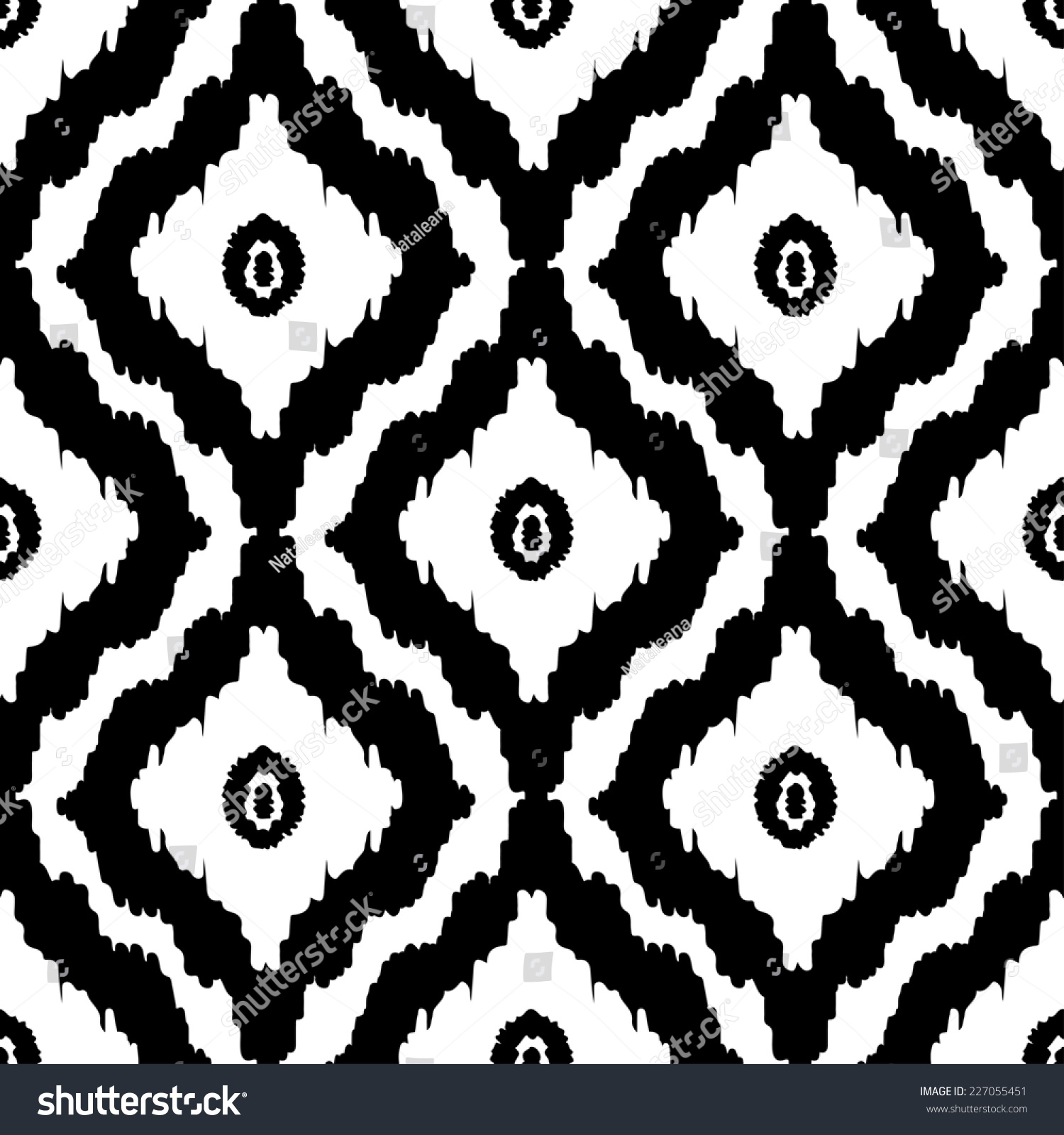 Abstract tribal art ethnic seamless pattern stock vector - Ikat muster ethno design ...
