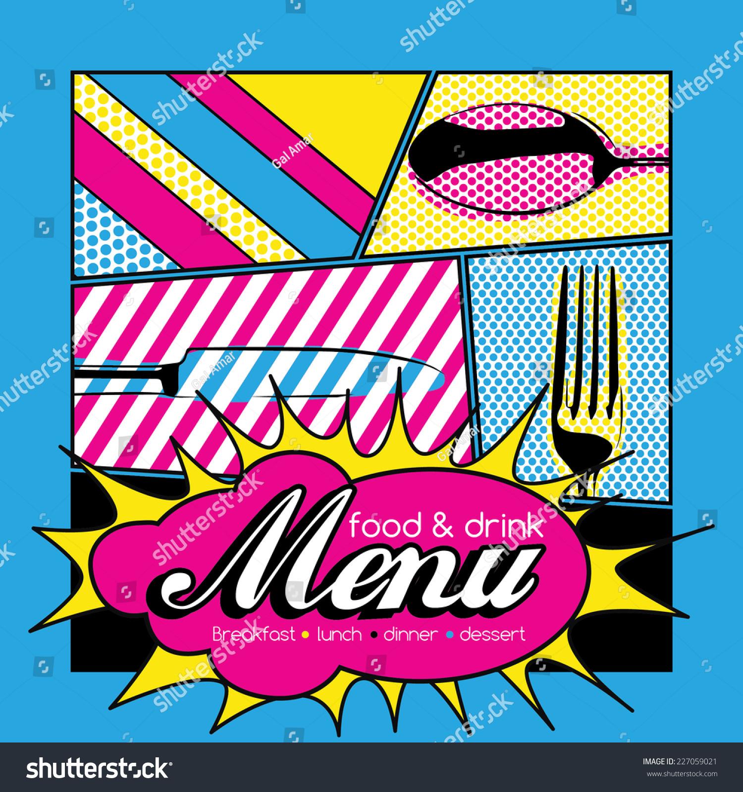 pop food menu drink restaurant vector shutterstock