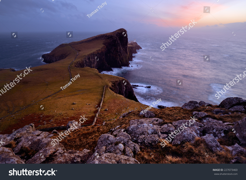 Isle Of Skye United Kingdom  city photos gallery : Neist Point, Isle Of Skye, Scotland, United Kingdom Stock Photo ...