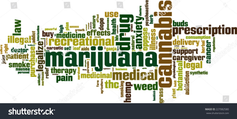 Marijuana Word Cloud Concept Vector Illustration Stock