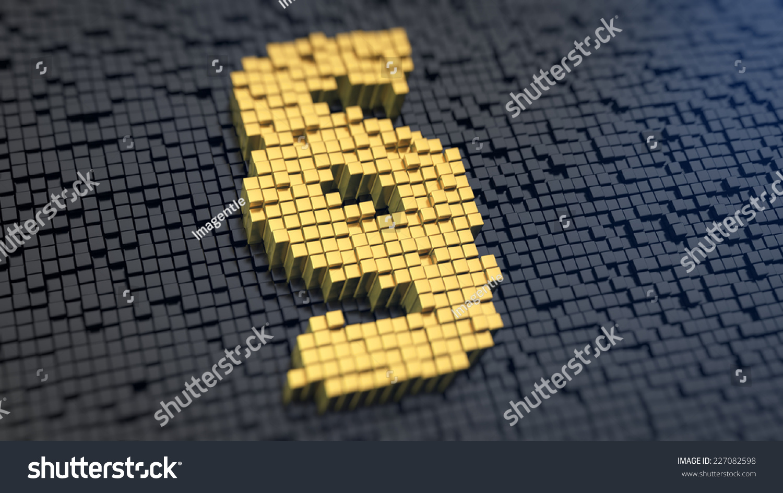 Paragraph symbol yellow square pixels on stock illustration paragraph symbol of the yellow square pixels on a black matrix background bureaucracy concept biocorpaavc