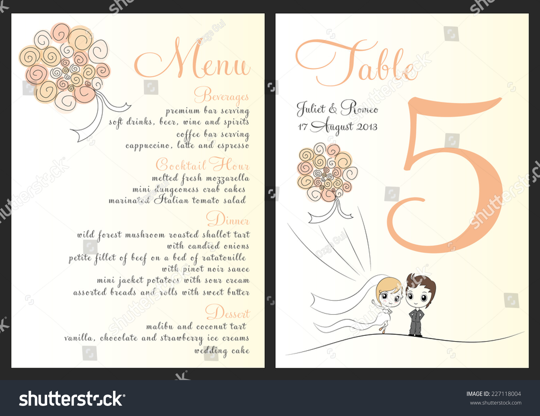 set wedding invitation template orange bouquet เวกเตอร สต อก