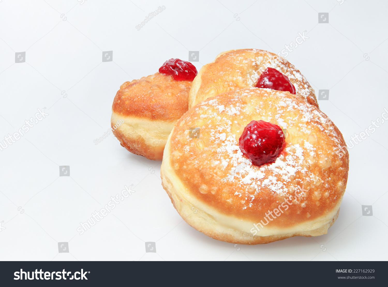 Hanukkah Doughnut - Traditional Jewish Holiday Food. Stock ...