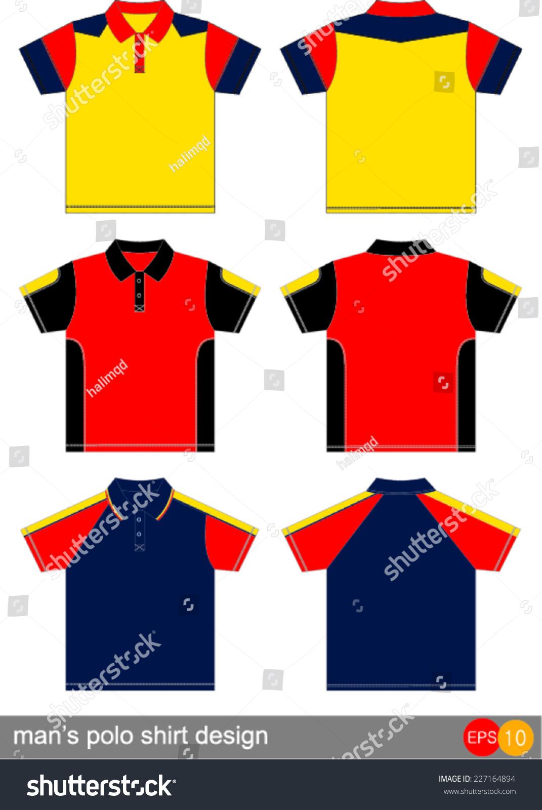 Polo shirt design vector - Man S Polo Shirt Design Vector Template