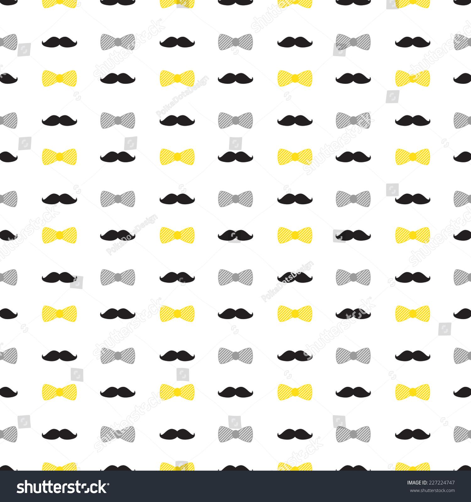 Royalty-free Little man seamless pattern. Black