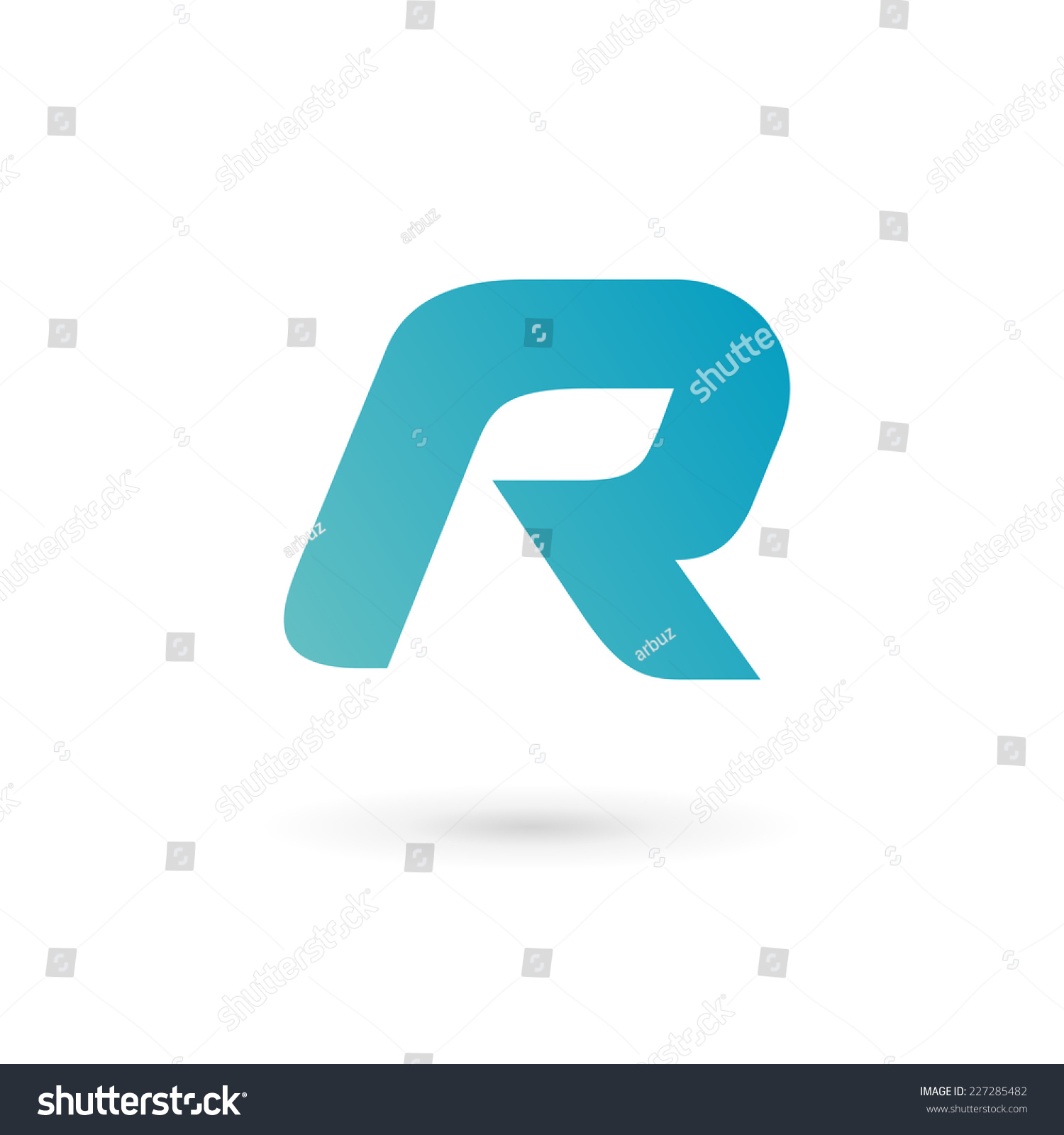Letter R Logo Icon Design Template Elements Stock Vector Illustration ...