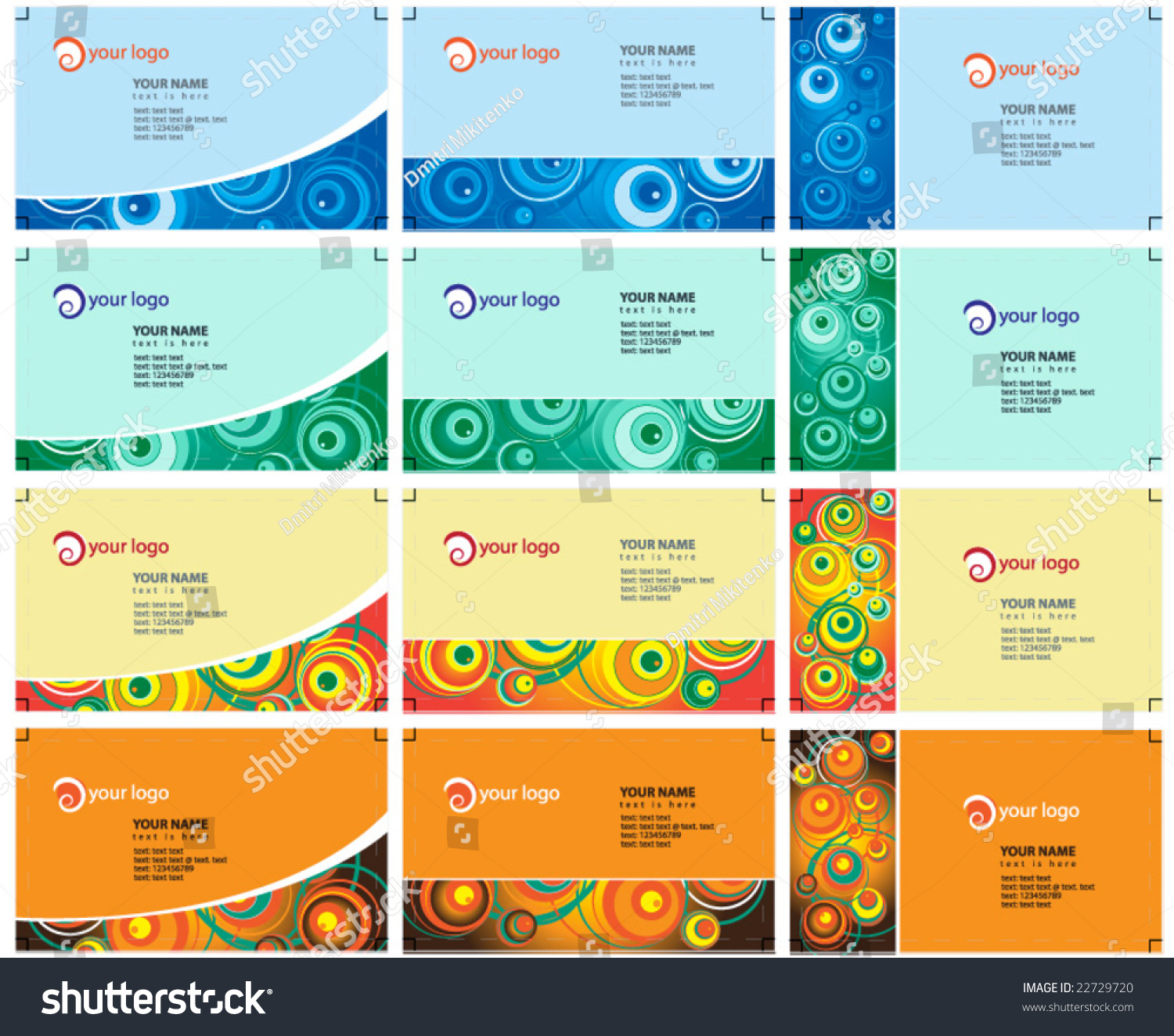 Fun business cards vector file stock vector 22729720 shutterstock fun business cards vector file reheart Image collections