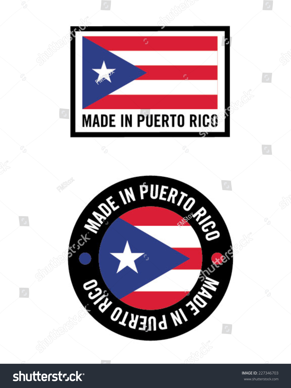 Vector made puerto rico icon logo stock vector 227346703 vector made in puerto rico icon and logo set biocorpaavc Choice Image