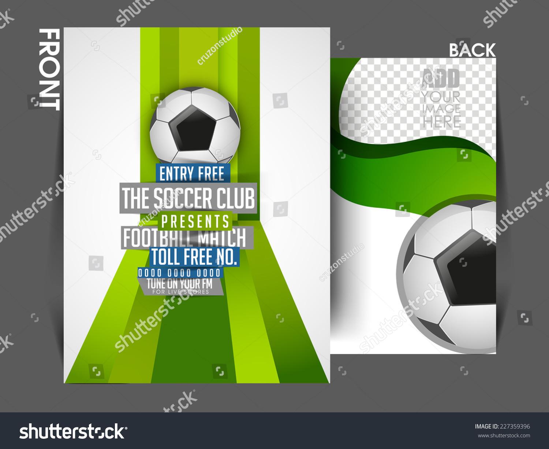 vector sport tournament front back flyer stock vector
