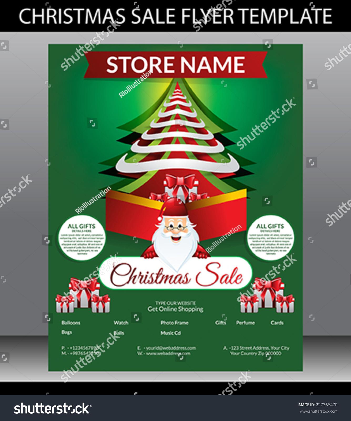 christmas sale flyer template