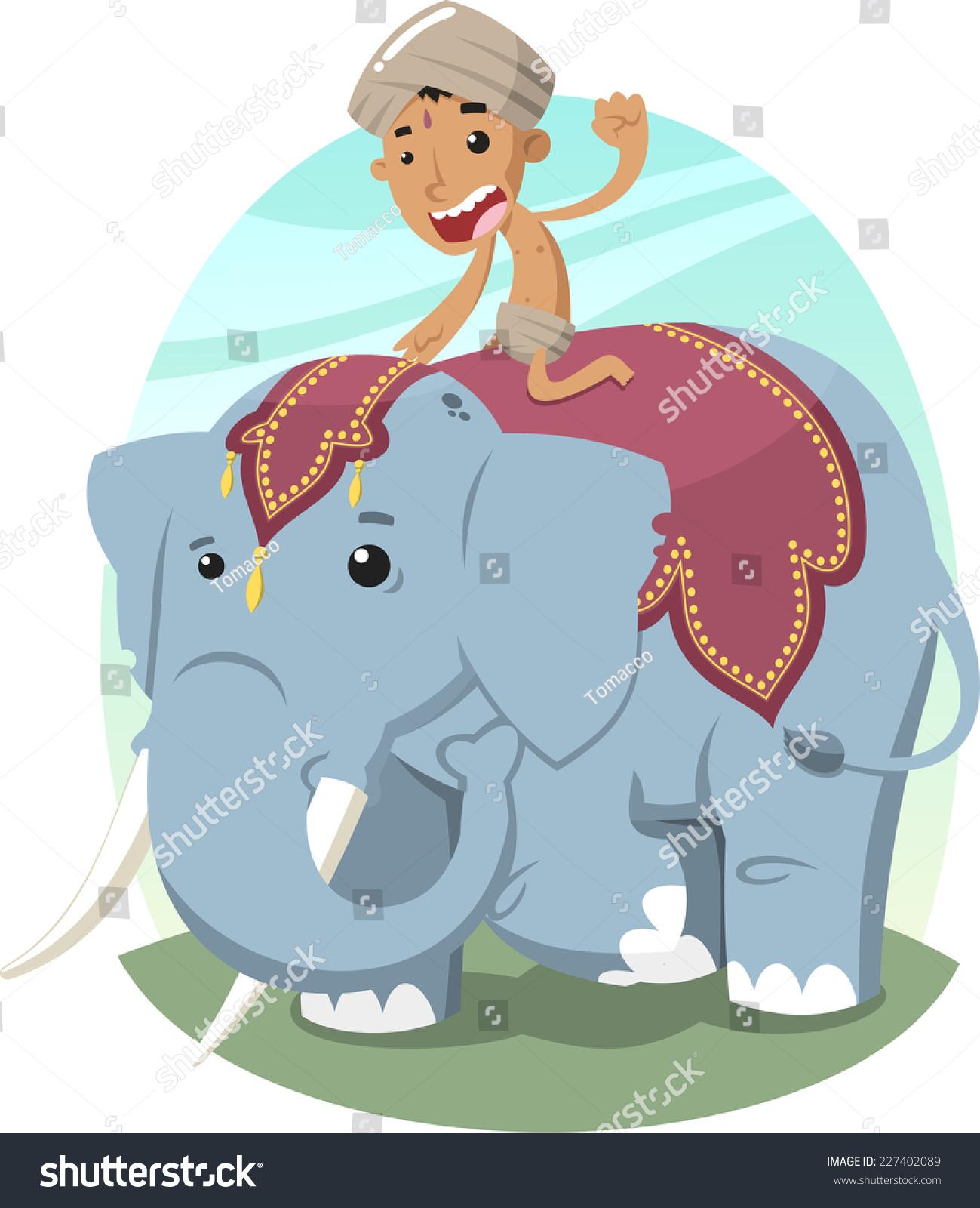 indian boy turban riding elephant vector stock vector indian headdress clip art girls indian headdress clipart free