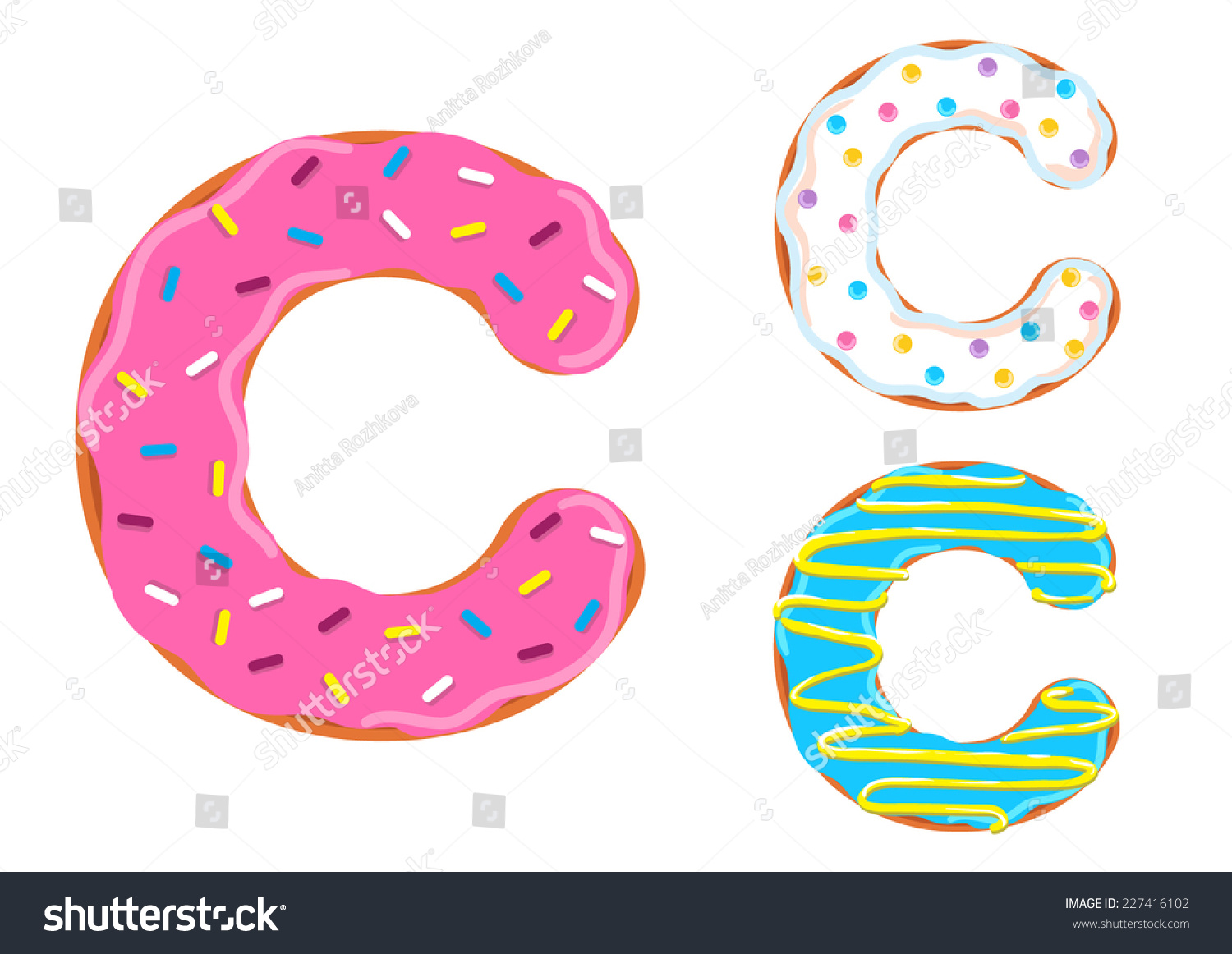 Sweet Donut Font Vector Letter C Stock Vector (Royalty Free ...