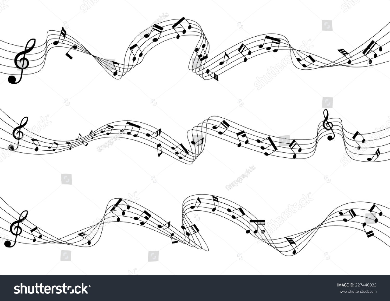 Three musical chords flowing vector illustration stock vector three musical chords are flowing a vector illustration hexwebz Image collections