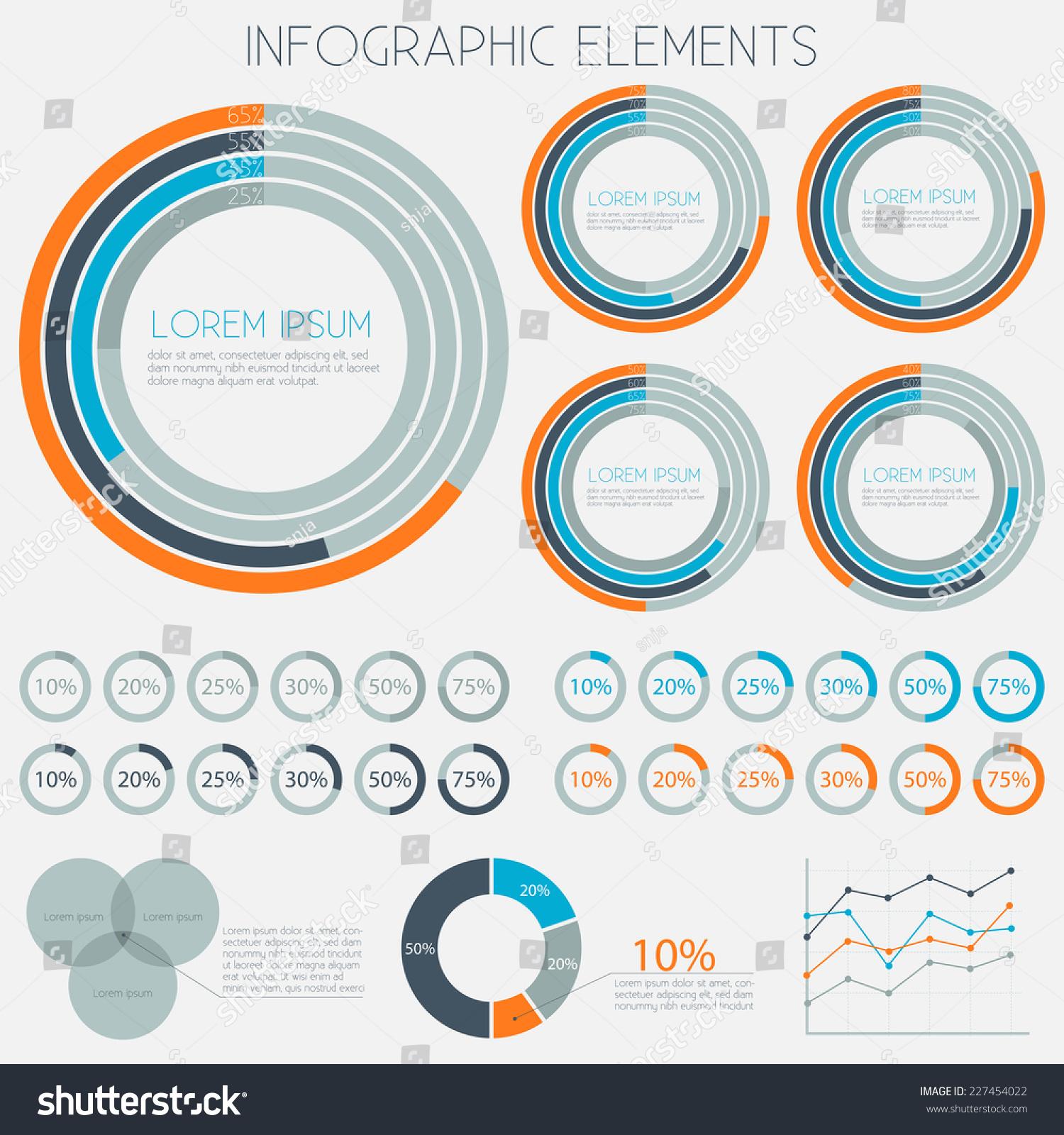 Infographics charts piecharts graphs templates vector stock vector infographics charts pie charts graphs templates vector eps10 alramifo Gallery