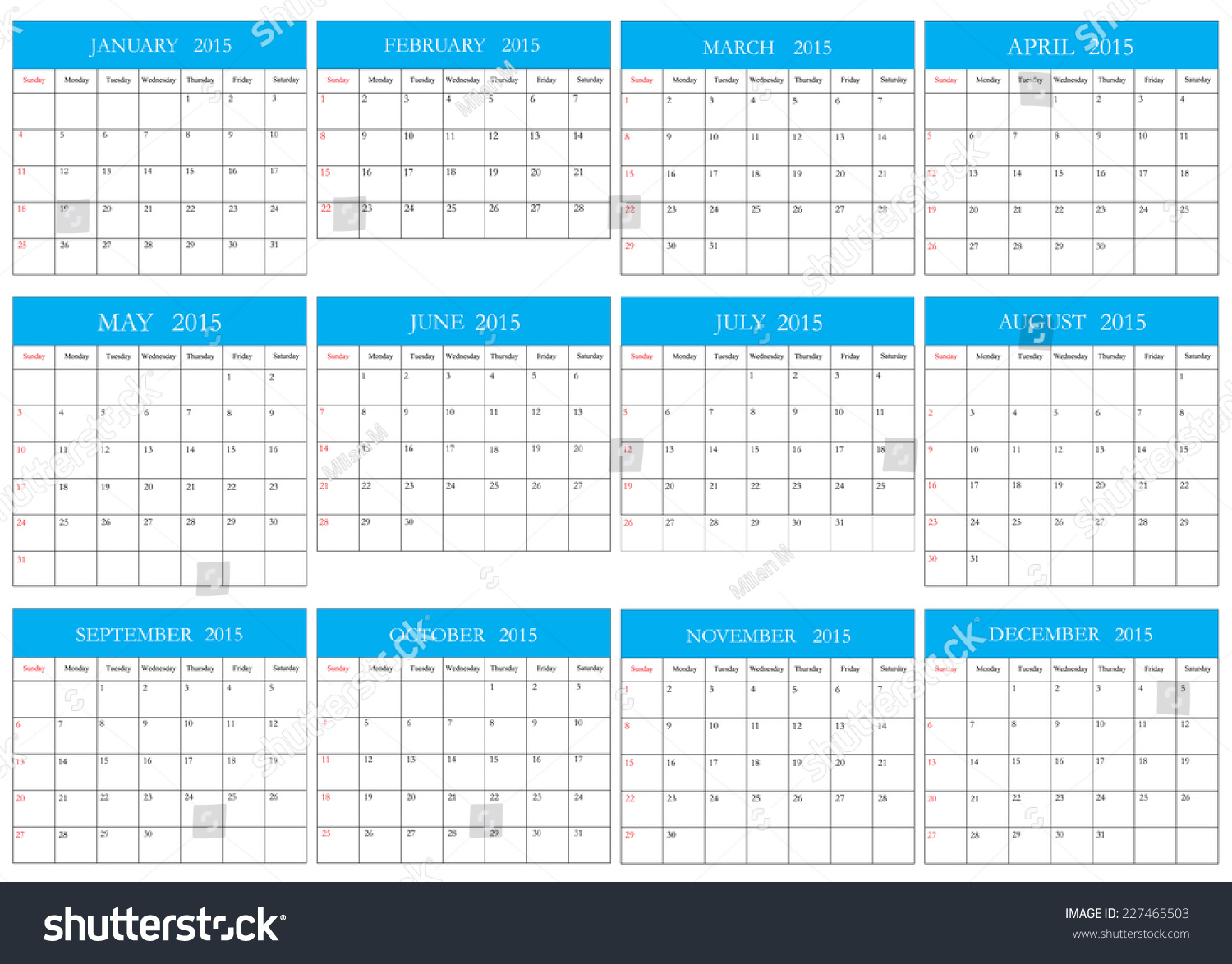 Calendar Illustration Vector : Simple calendar vector illustrationplanning