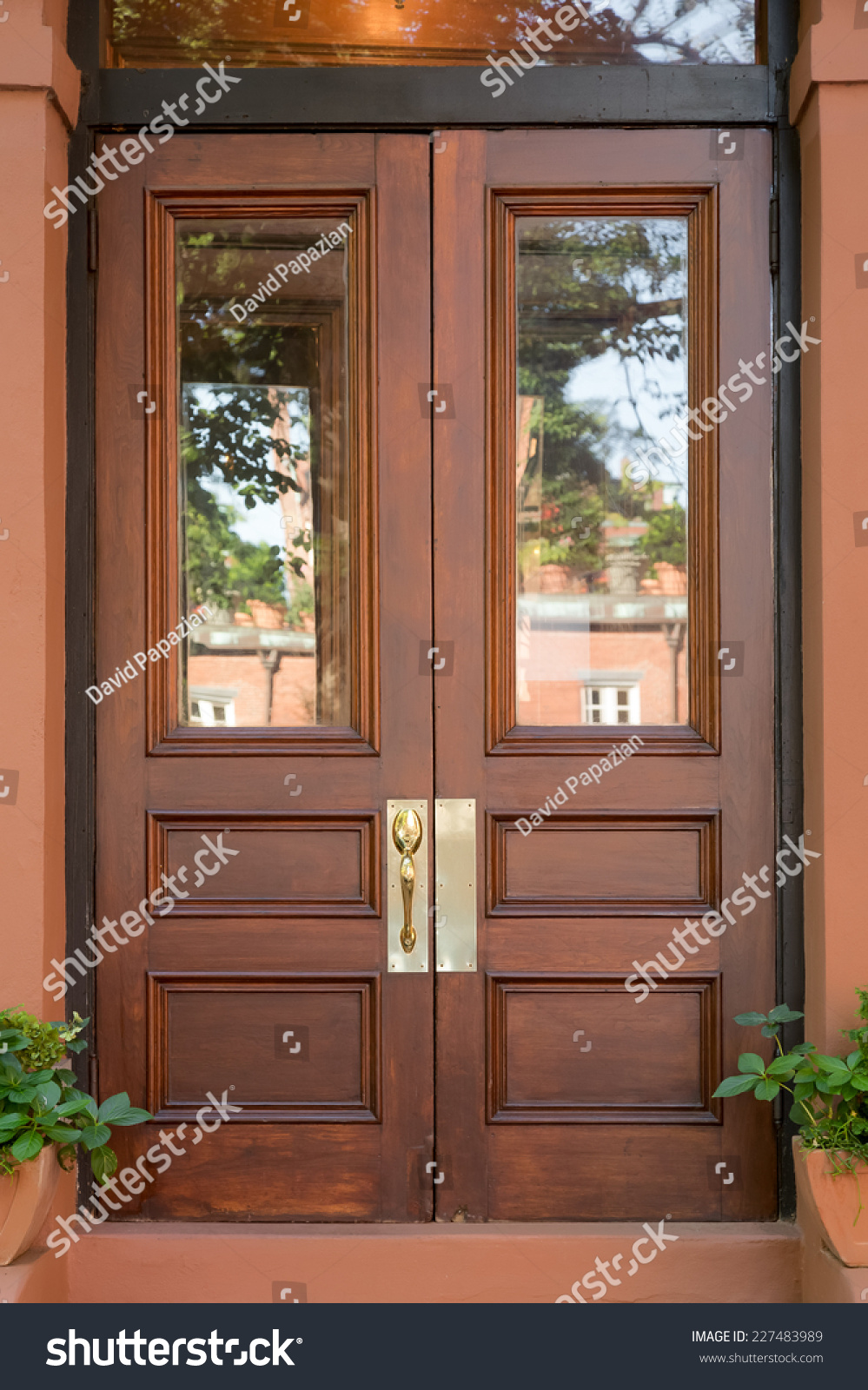 Natural doors these doors are crafted from reclaimed for Natural wood front door