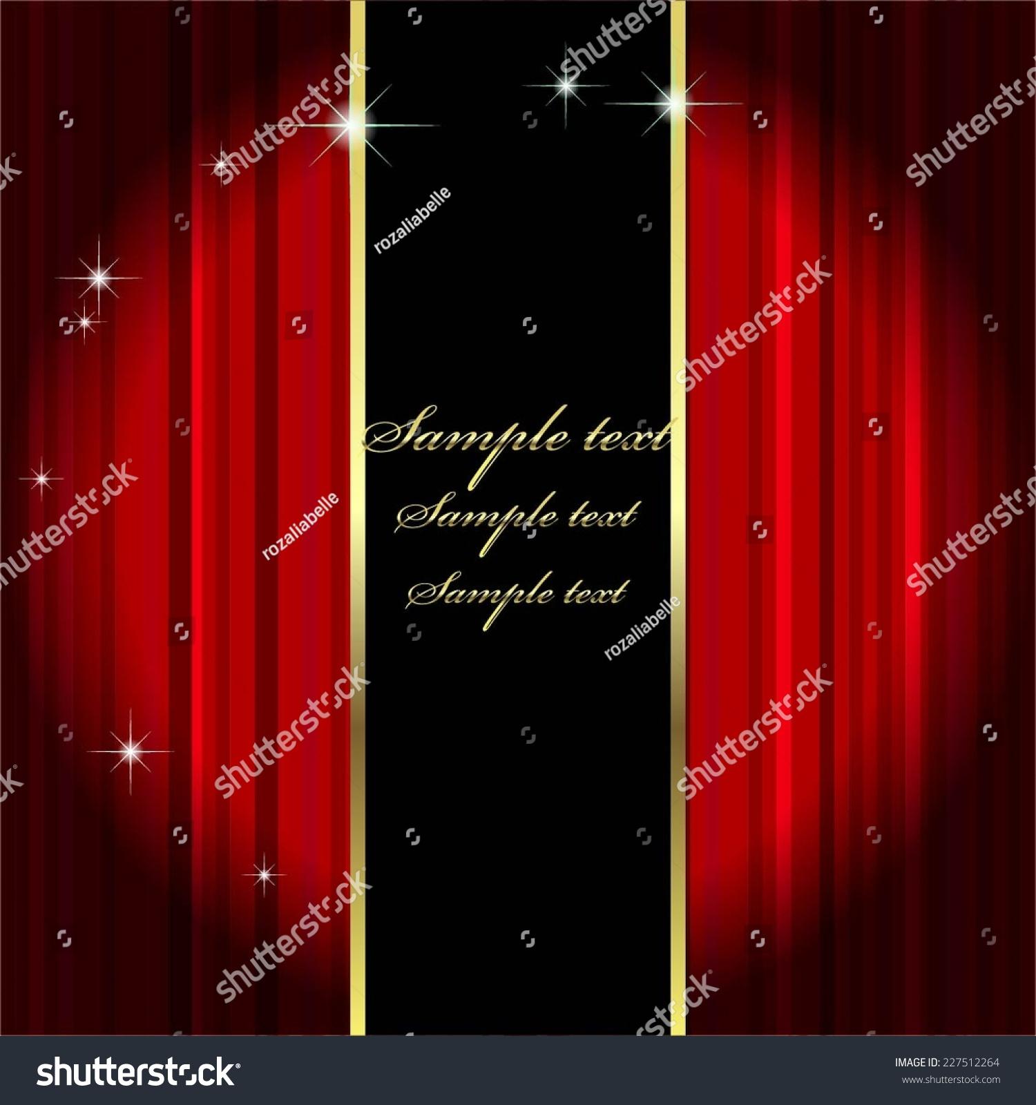 Red curtain spotlight - Vector Illustration Of Red Curtain Theatre Spotlight