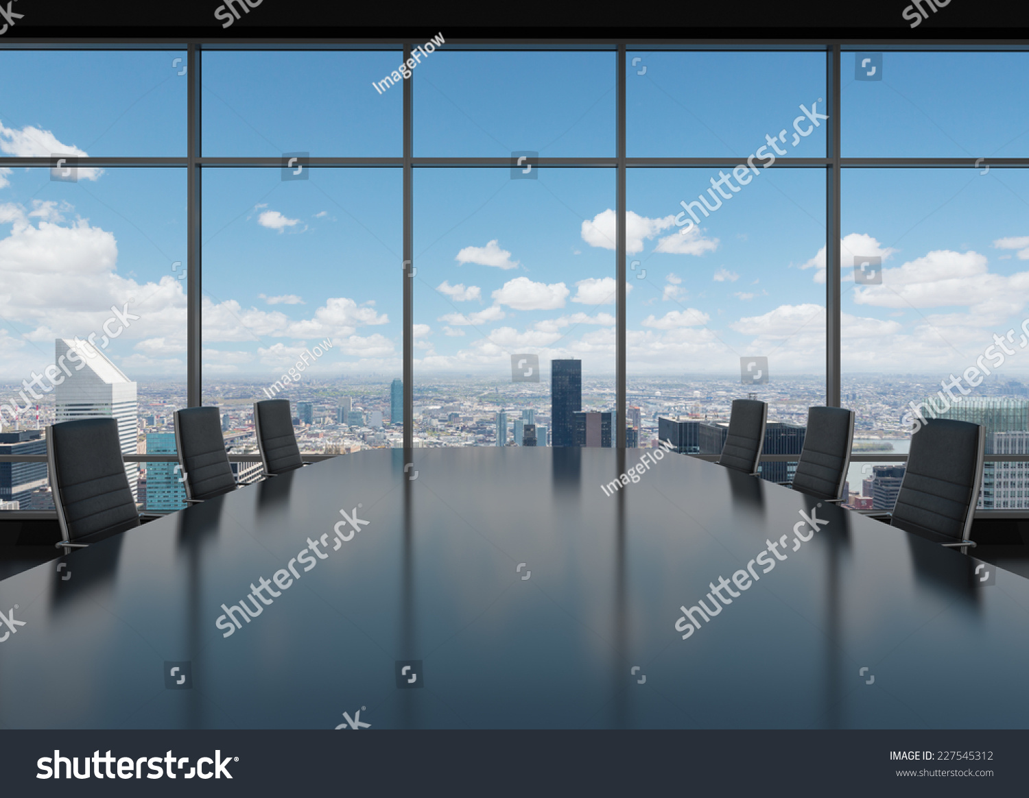 Conference Room Modern Office Windows City Stock Photo 227545312 ...