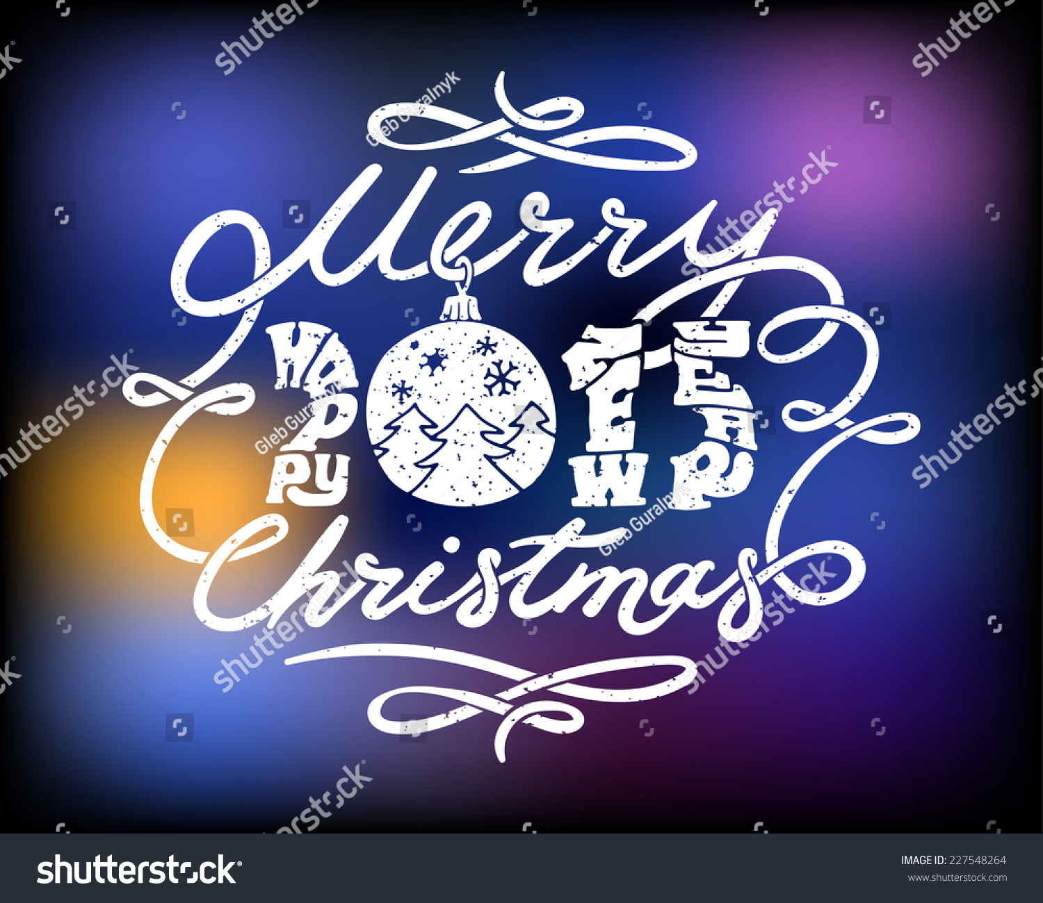 Merry christmas happy new year greetings stock vector 227548264 merry christmas and happy new year greetings 2015 on blurry background kristyandbryce Choice Image