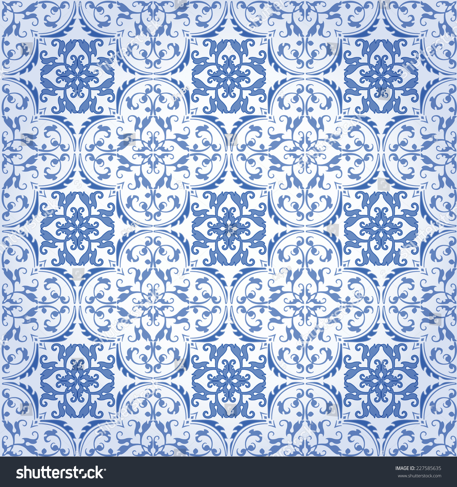 Turkish Design Wallpaper : Seamless damask background pattern design wallpaper stock