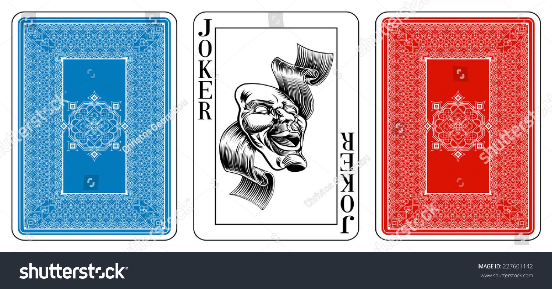 Poker Size Joker Playing Card Plus Stock Vector Royalty Free