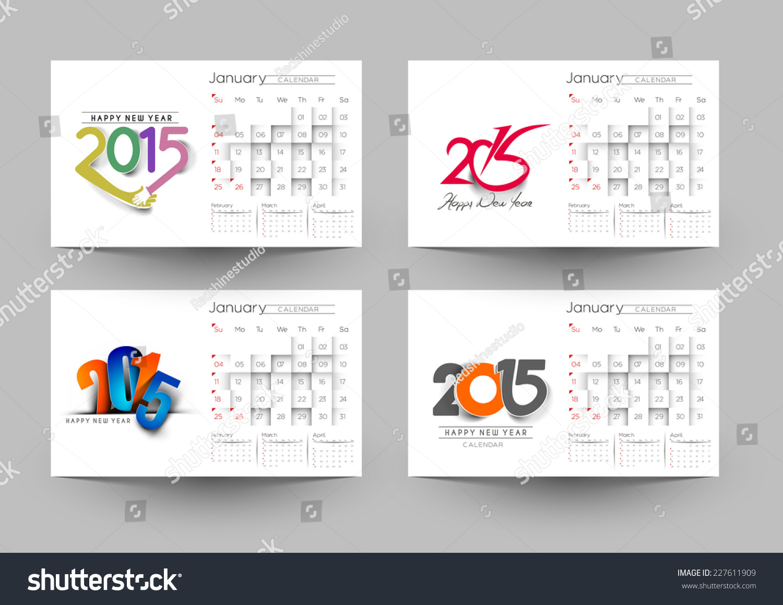 Year Up Calendar : Set up new year calendar background stock vector